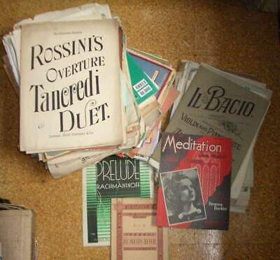 Joblot of assorted old, used and vintage sheet music etc - 15 Kg weight approx.
