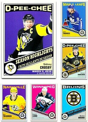 2019-20 O-Pee-Chee RETRO **** PICK YOUR CARD **** From The Set - [251-600]