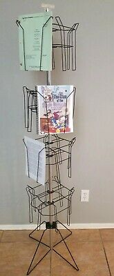 Store/Business MAGAZINE/COMIC/S DISPLAY Literature Pamphlets Wire Spinning USA