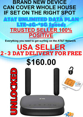 At&T Lte,4G,5G Unlimited Netgear Whole Home Wifi  Router $34.99 Monthly