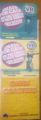 VB SMASH FOR CASH - WARNIE - COASTER 250 Coasters Sleeve