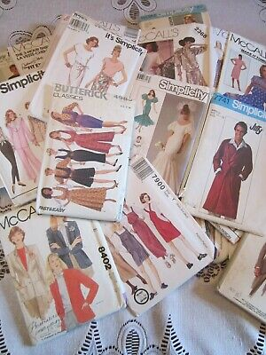 LOT of 26 UNCUT Sewing Patterns SIMPLICITY McCALL BUTTERICK Assorted LADIES MENS