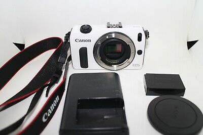 Canon EOS M 18.0MP Digital Camera Body White from Japan [Excellent]