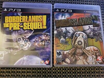 Borderlands: The Pre-Sequel & 2 PS3 (PlayStation 3 Game Bundle Lot) Complete