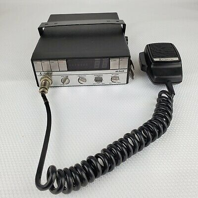 Vintage Cobra 25 PLUS CB Radio BBO9YR with Microphone UNTESTED