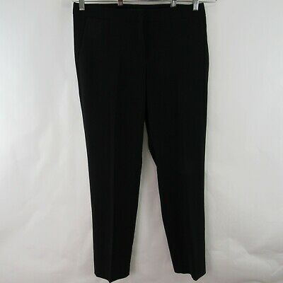 Adrianna Papell Size 8 Dress Pants Straight Leg Flat Front Black Womens 34x30