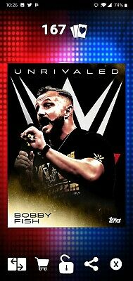 Topps WWE SLAM Digital 2019 Unrivaled Bobby Fish Gold Base 47CC