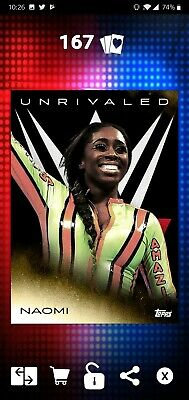Topps WWE SLAM Digital 2019 Unrivaled Naomi Gold Base 47CC