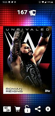 Topps WWE SLAM Digital 2019 Unrivaled Roman Reigns Gold Base 54CC
