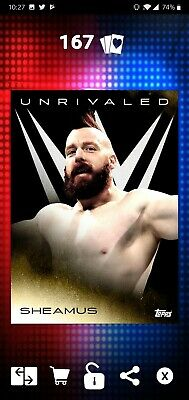 Topps WWE SLAM Digital 2019 Unrivaled Sheamus Gold Base 47CC