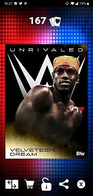 Topps WWE SLAM Digital 2019 Unrivaled Velveteen Dream Gold Base 60CC