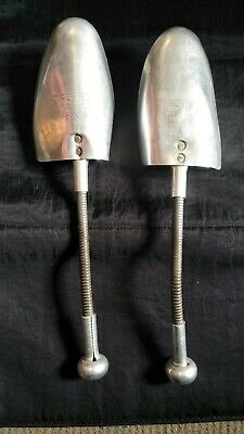 Vintage Pair Vic Tree Aluminium Shoe Stretchers  Shoe Trees size 8 x 9 GC