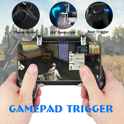 For PUBG Controller Mobile Phone Game Shooter Trigger Fire Gaming Button + Pad ☆
