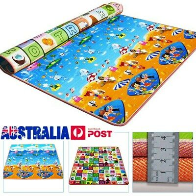 2 Side Baby Kids Play Mat Child Floor Activity Toy Crawl Soft Blanket Picnic Rug