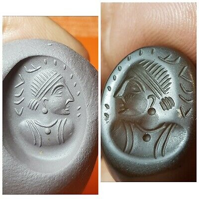 Very beautiful sasan intaglio agate seal bead