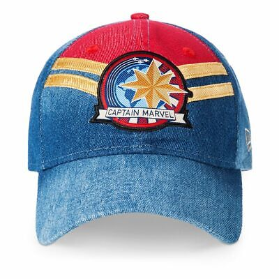 Disney Store Authentic Captain Marvel Avengers Hat for Adults One Size New Era