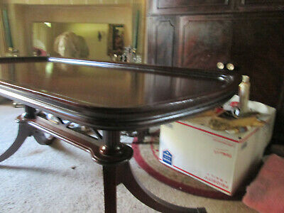 1940s Antique DUNCAN PHYFE coffee table, MERSMAN Mahogany, brass claw feet