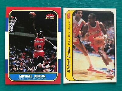 1986 - 1987 Fleer Michael Jordan Bulls Basketball REPRINT Rookie Sticker Card #8