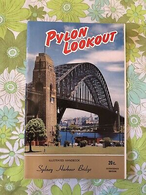PYLON LOOKOUT SYDNEY HARBOUR BRIDGE AUSTRALIA Brochure Vintage 1960s handbook
