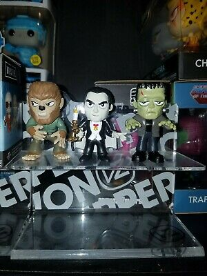 Funko Universal Monsters Mystery Minis Lot Of 3 Wolfman Dracula Frankenstein