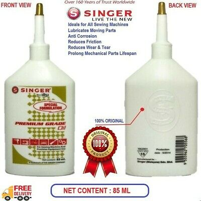 100% Synthetic Oil for lubricating Singer Sewing Machine-85 ml Bottle - X 2