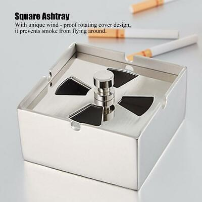 Cigarette Smoking Holders Stainless Steel Ashtray With Lid Desktop Decoration