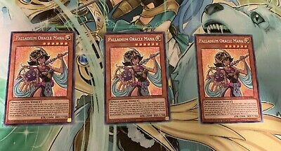 3x *MINT* Palladium Oracle Mana - TN19-EN004 - Prismatic Secret Rare - Yu-Gi-Oh!