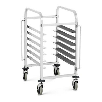 Commercial Tray Trolley Tray Rack Kitchen Sheet Pan Rack Tray Cart 6xGN 1/1 60kg
