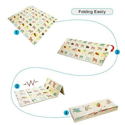 Large Foldable Double-sided Child Crawling Mat For Baby Non-toxic Game Gads USA