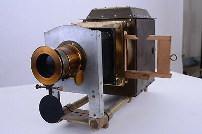 Glass lantern slide projector, brass & aluminium 1930's or 40's