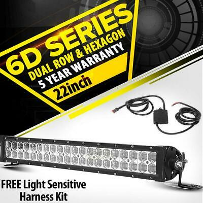 6D 22Inch 280W Dual Row LED Work Light Bar Spot&Flood for Holden Commodore 22""