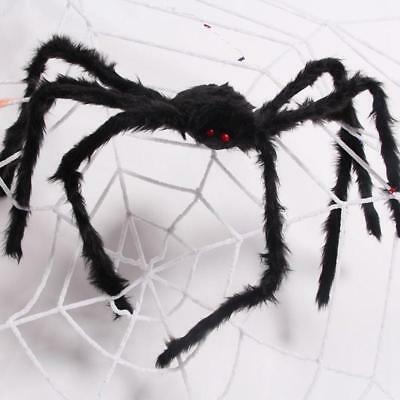 5FT/150CM Hairy Giant Spider Halloween Prop Haunted House Party Decor Lifelike