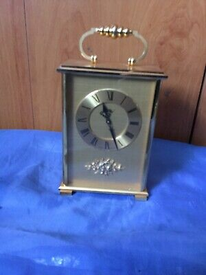 A Stunning Solid Brass Carriage Clock By Imhof