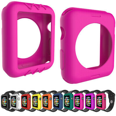 2X Full Body Silicone Case Cover Protector For Apple Watch iWatch 38/42MM NEW