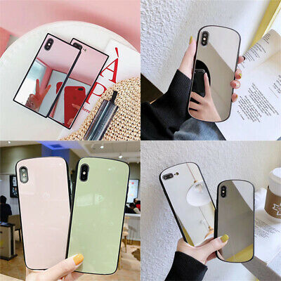 360°Phone Case Cover Glass Mirror Shockproof Hard TPU For iphone 6 7 8 X XR +