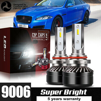 2019 LED Headlight Kit HB4 9006 60W 6000K 12000LM Light Bulb HID Low Beam DWU