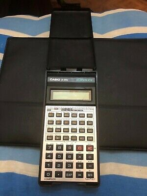 Casio Scientific Calculator FX-100d Super FX Vintage in case 1980s Still working