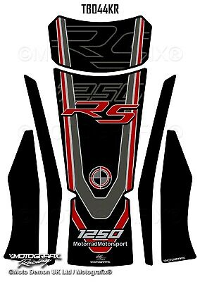 BMW R1250RS 2019 20 Black Red Motorcycle Tank Pad Protector Gel Paint Protection