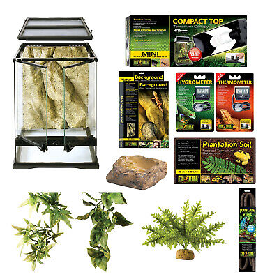 Exo-Terra Rainforest Starter Habitat Kit - Contains Everything for Ideal Setup