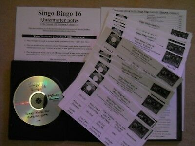 Motown Music Bingo Game 16, Complete Set No Printing Great Value. Classic Motown