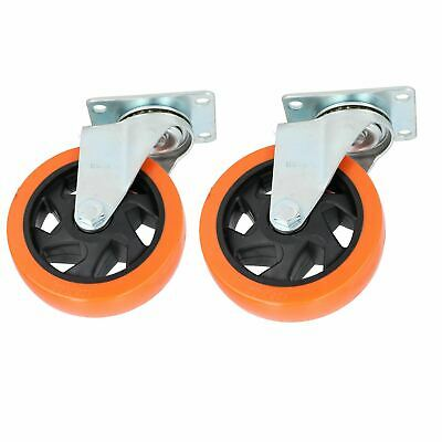 "5"" Swivel PVC Trolley Castor Wheel Roller Bearings 150kg Load Per Wheel 2 Pack"