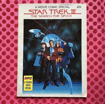 STAR TREK III THE SEARCH FOR SPOCK a Movie Comic Special 1984 FPC Book Vintage 3