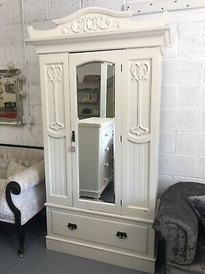Vintage Art Deco Painted Wardrobe