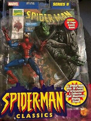 Vintage 2001 Spiderman Classics Collector Wall Mountable Display w/comic MINT