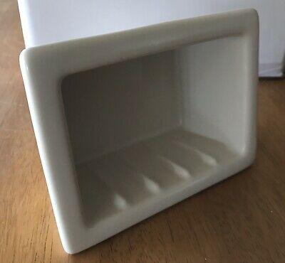 Porcelain Recessed Soap Holder 6 X 4 Inch New - Never Installed