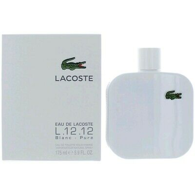 Lacoste L.12.12 White Blanc by Lacoste, 5.9 oz EDT Spray for Men