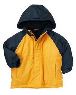 NEW CRAZY 8 Toddler Boys size 2T-3T 2-3 Fall Winter Hooded Jacket Coat Yellow
