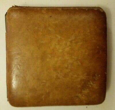 7 day swiss movement vintage 30's lever travel clock, brown leather case,