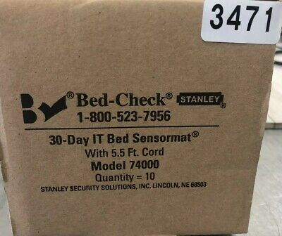 New BED-CHECK FALL MONITORS 74000 COMPONENTS BY STANLEY HEALTHCARE Box/10 3471