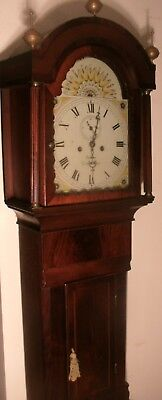 "Antique Mahogany Eight Day "" Grantham "" Longcase / Grandfather Clock"